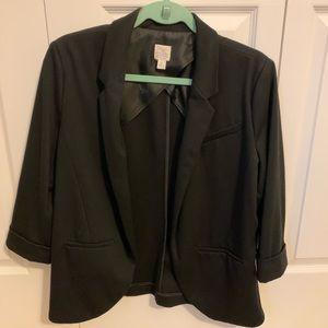 LC Lauren Conrad 3/4 Sleeve Open Front Blazer